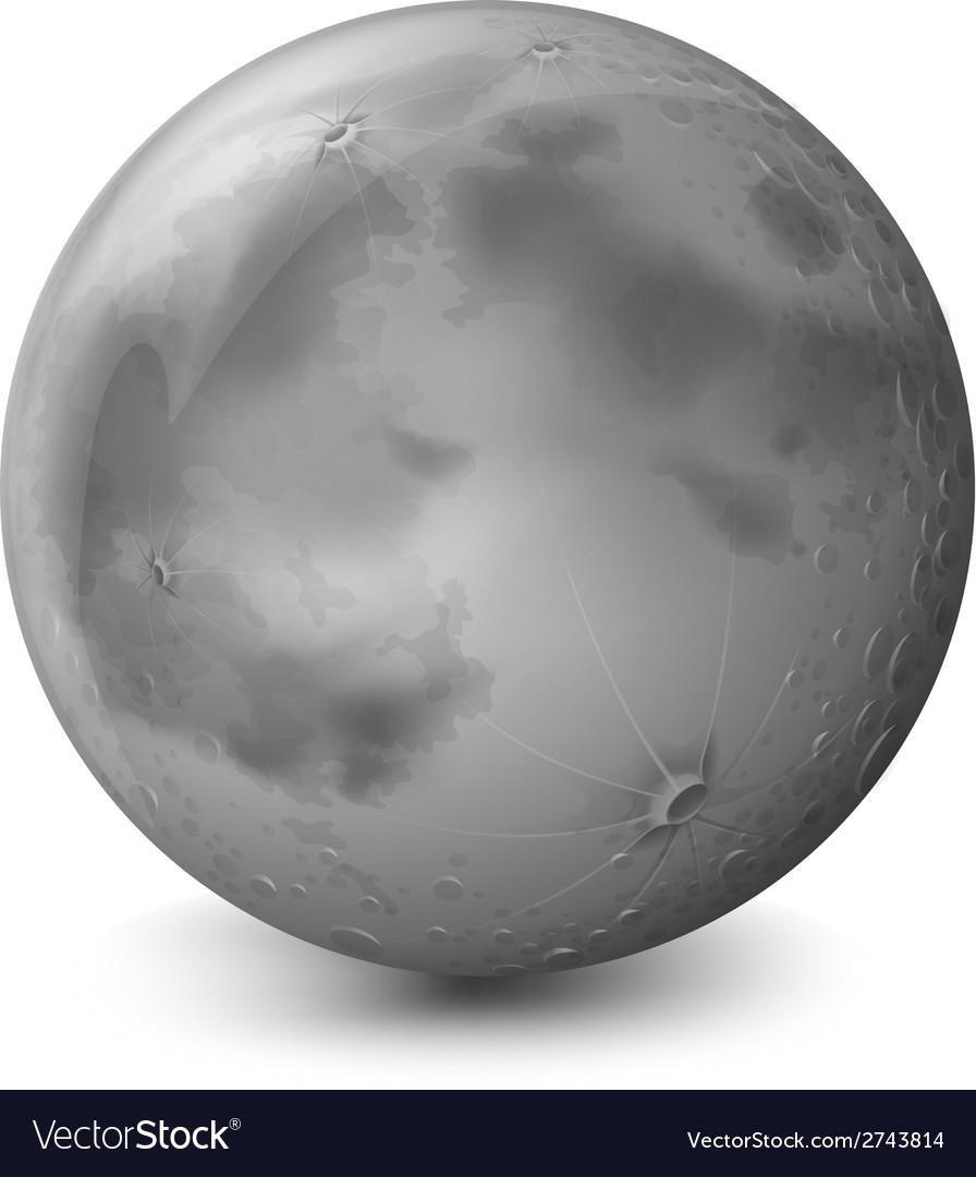 A grey planet vector | Price: 1 Credit (USD $1)