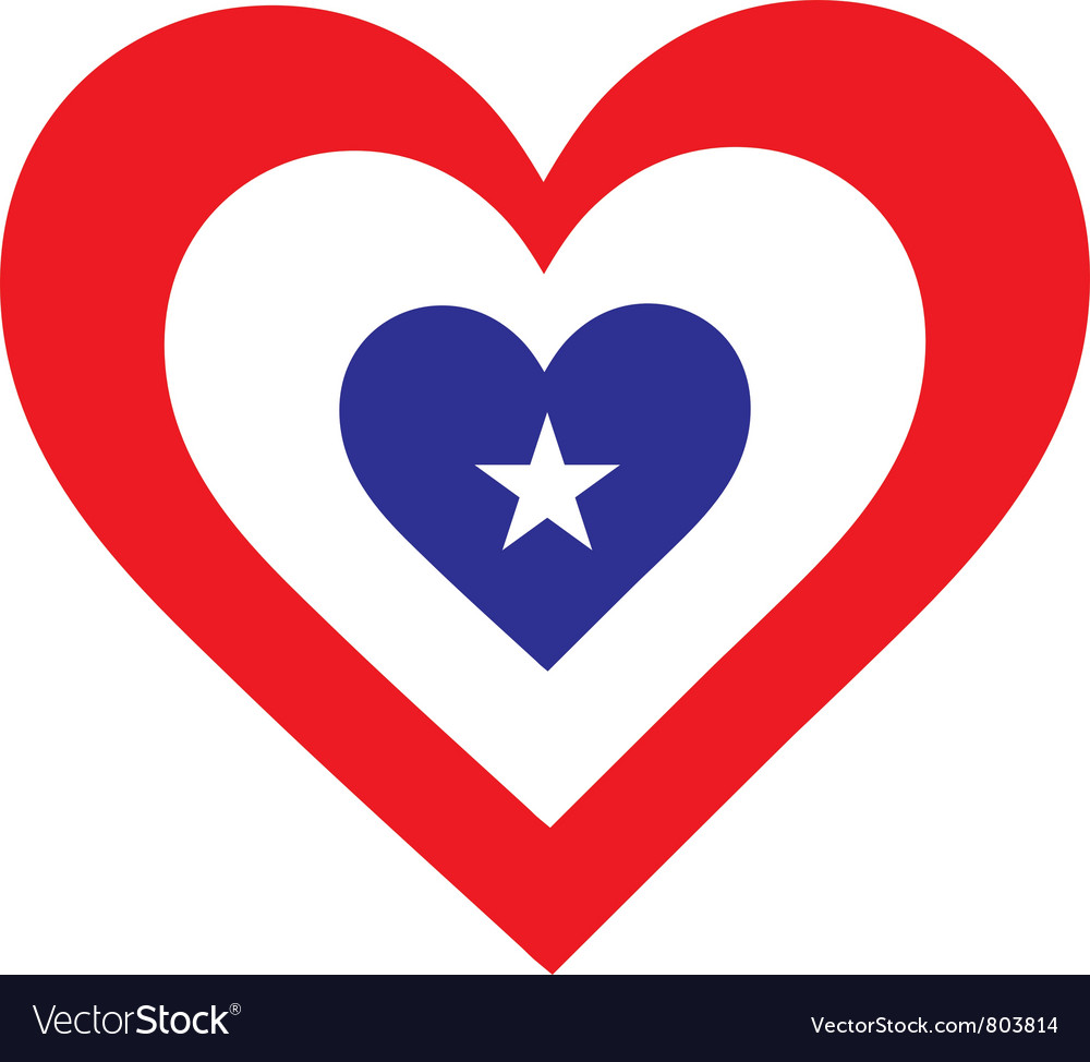America heart vector | Price: 1 Credit (USD $1)