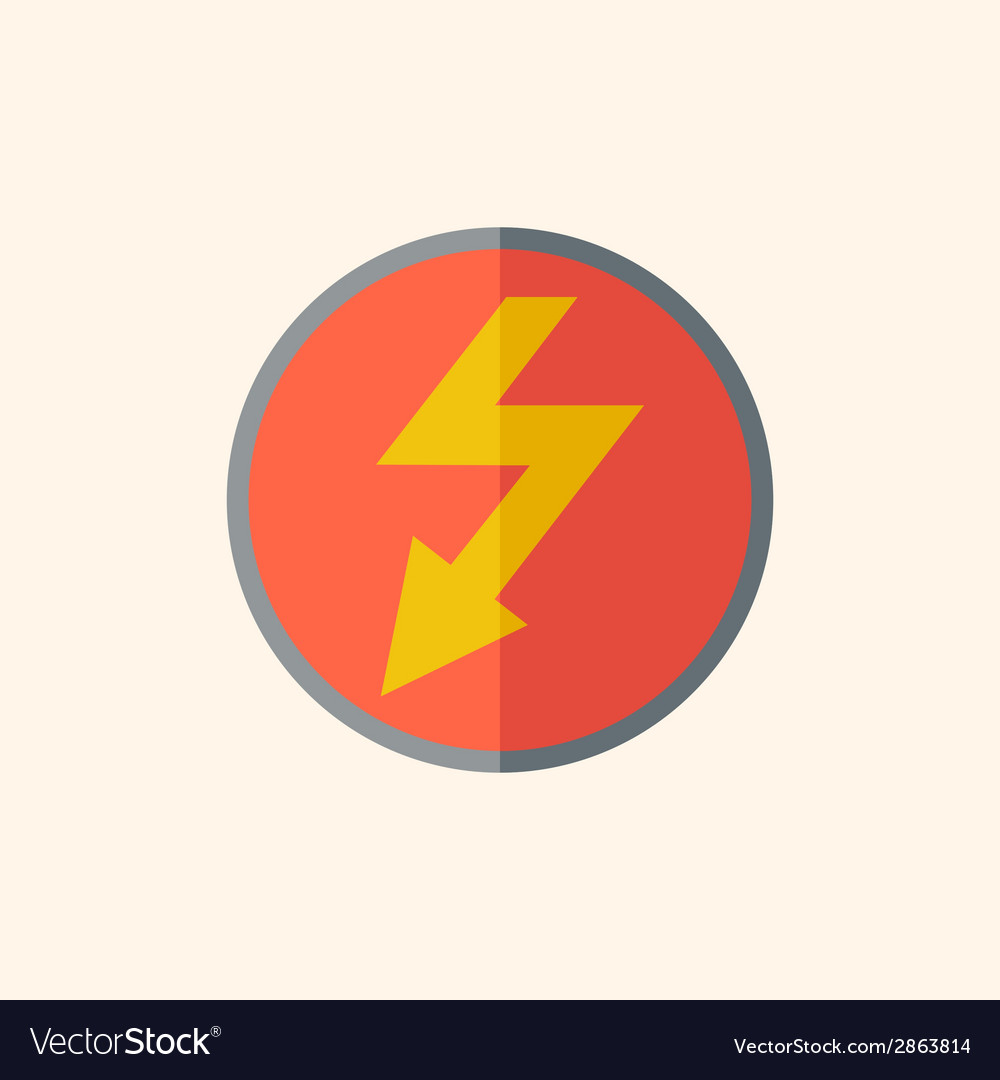 Electric flat icon vector | Price: 1 Credit (USD $1)
