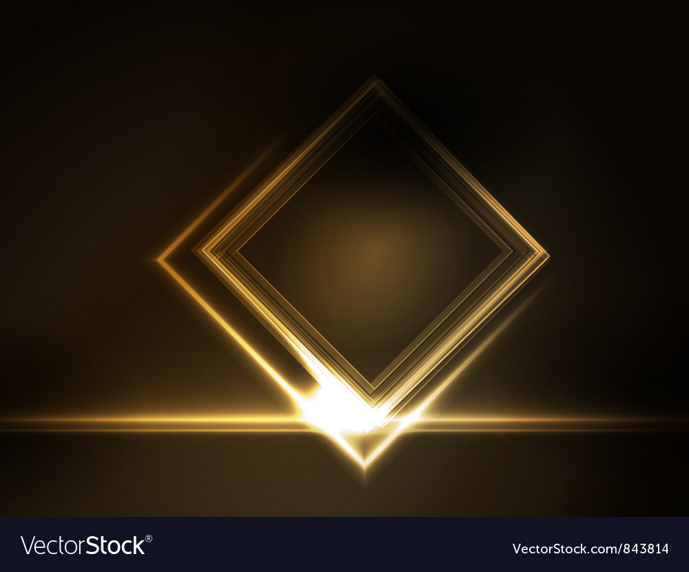 Golden glowing frame vector | Price: 1 Credit (USD $1)