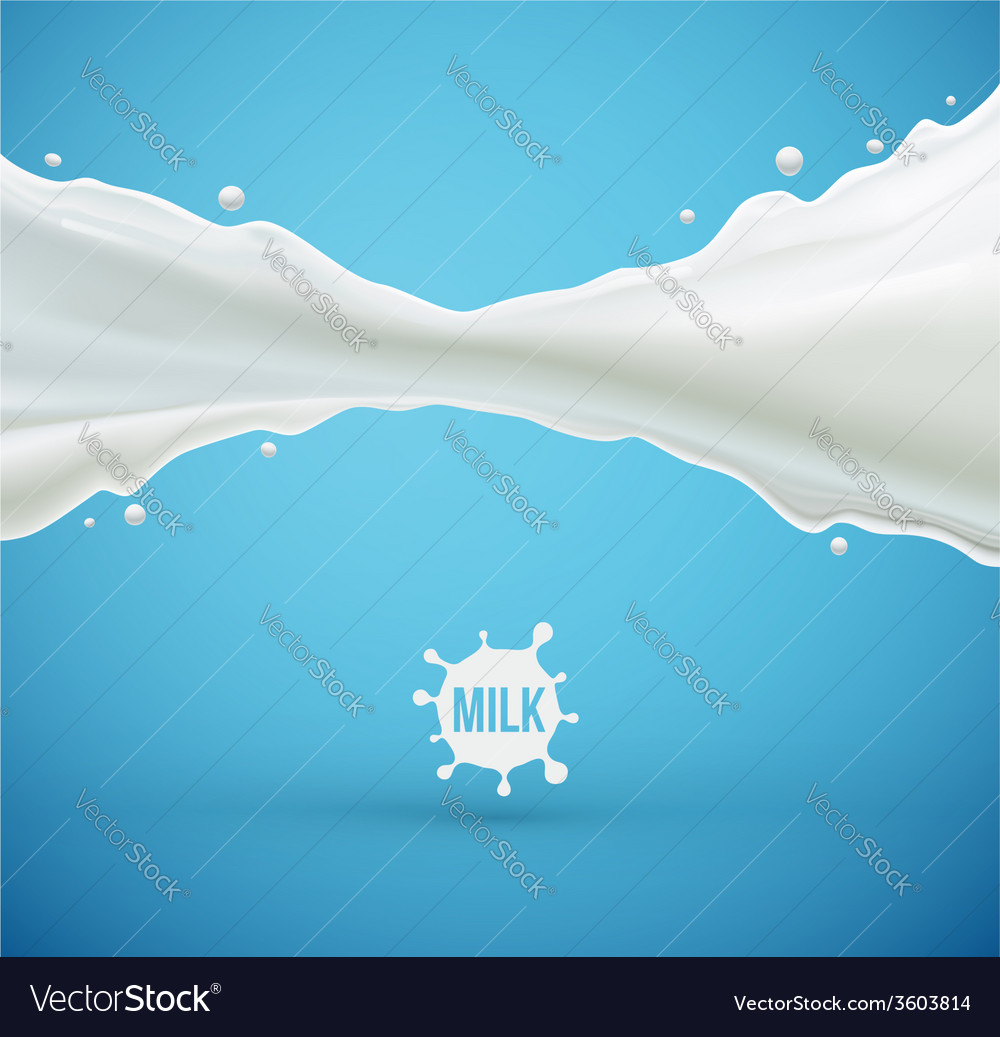 Milk splash vector | Price: 1 Credit (USD $1)