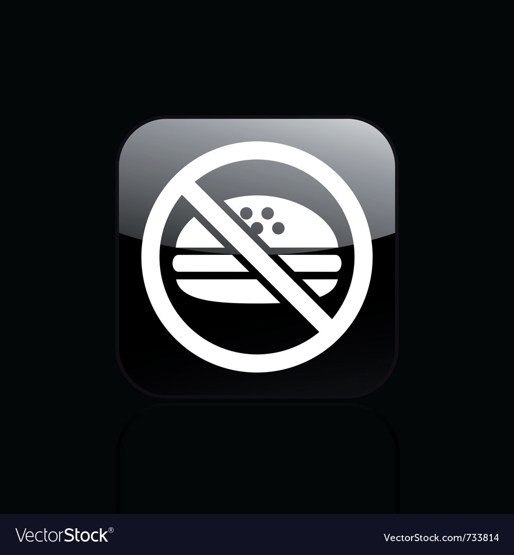 No food icon vector | Price: 1 Credit (USD $1)