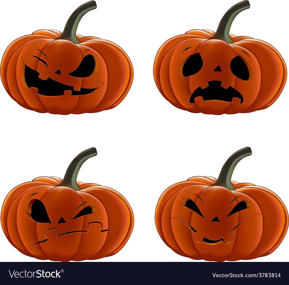 Set pumpkins for halloween vector | Price: 3 Credit (USD $3)