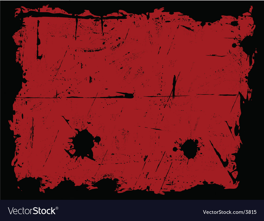 Black and red grunge border vector | Price: 1 Credit (USD $1)