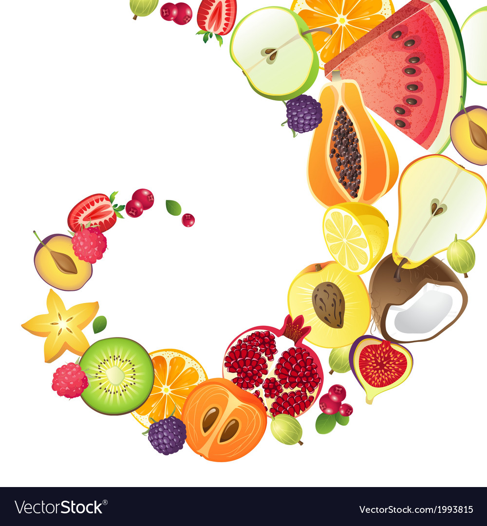Bright background with fruits vector | Price: 1 Credit (USD $1)