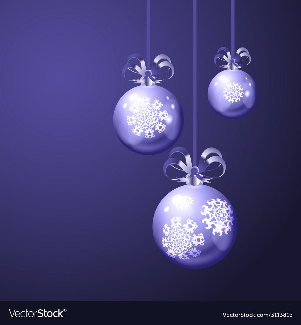 Christmas balls on blue background vector | Price: 1 Credit (USD $1)