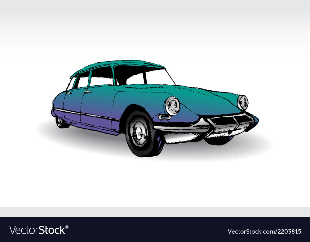 Citroen ds 19 vector | Price: 1 Credit (USD $1)