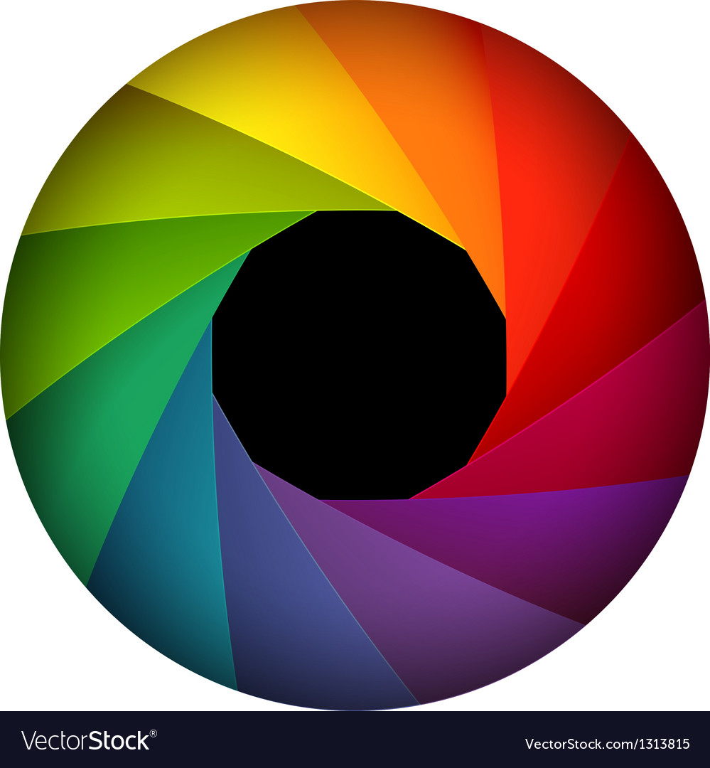 Colorful shutter aperture vector | Price: 1 Credit (USD $1)