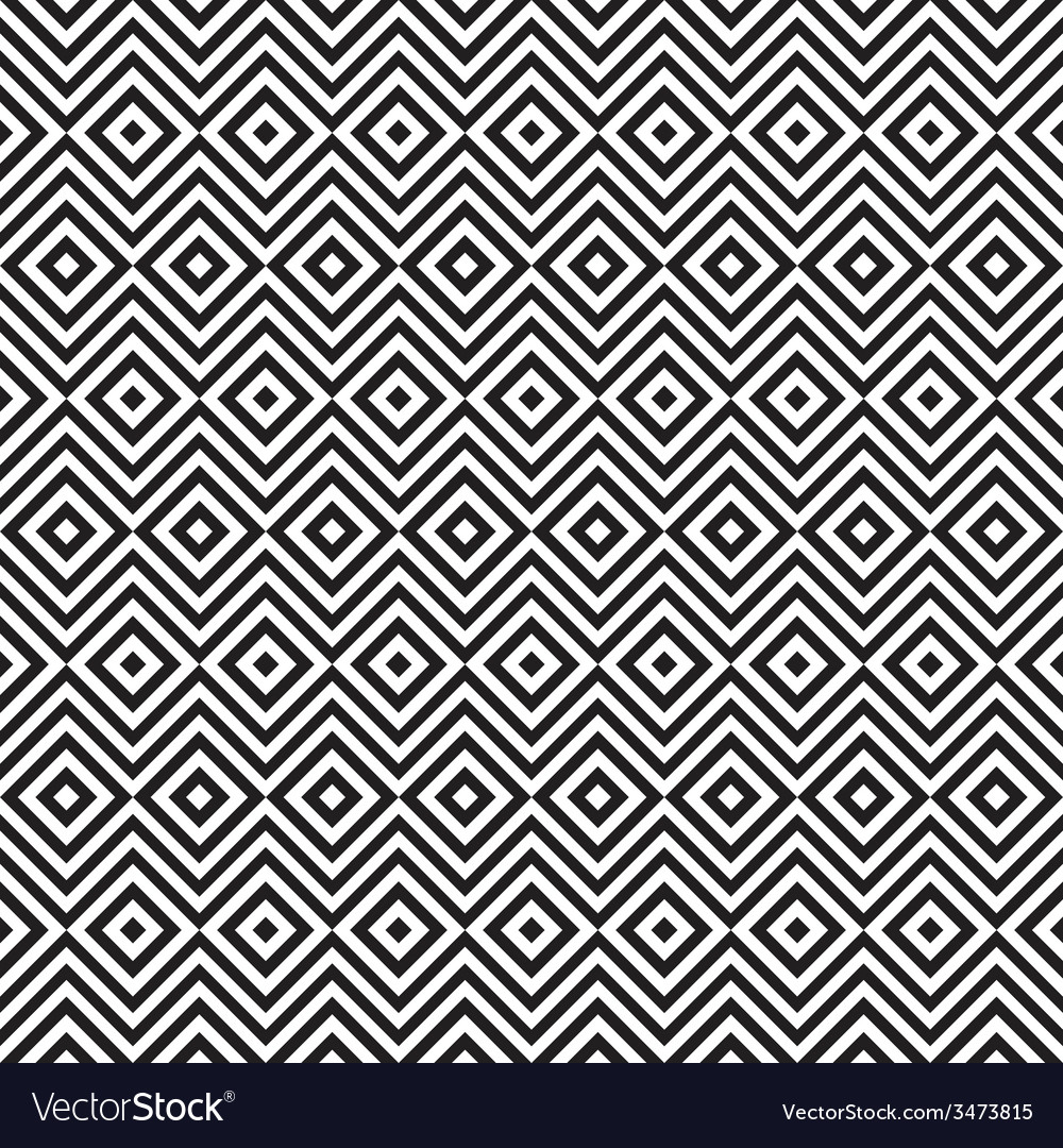 Ethnic tribal zig zag and rhombus seamless pattern vector | Price: 1 Credit (USD $1)