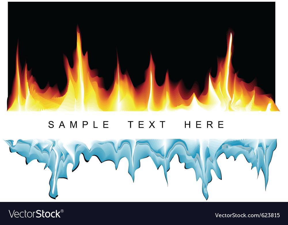 Fire vs ice vector | Price: 1 Credit (USD $1)