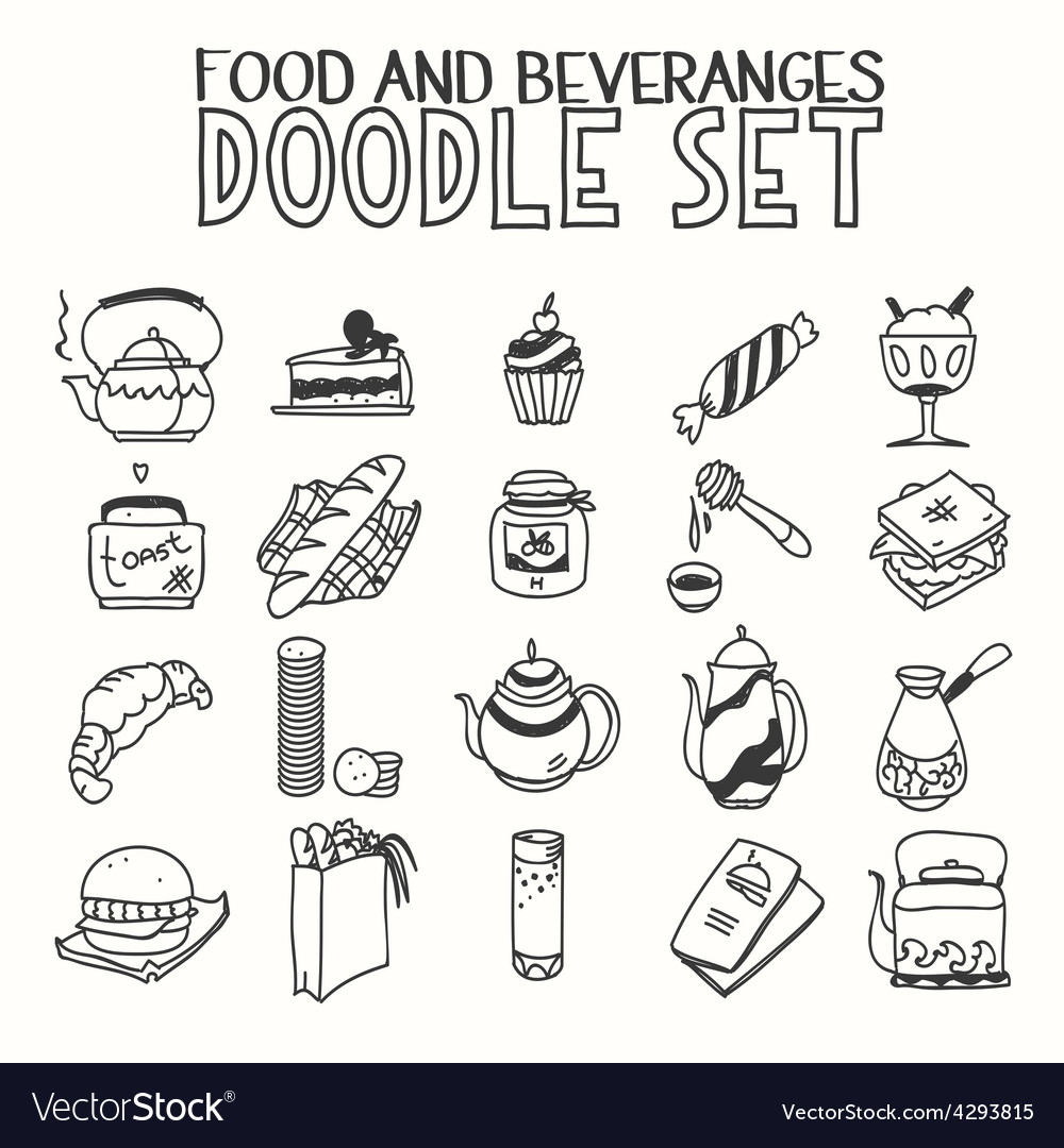 Food and beveranges morning breakfast lunch or vector | Price: 1 Credit (USD $1)