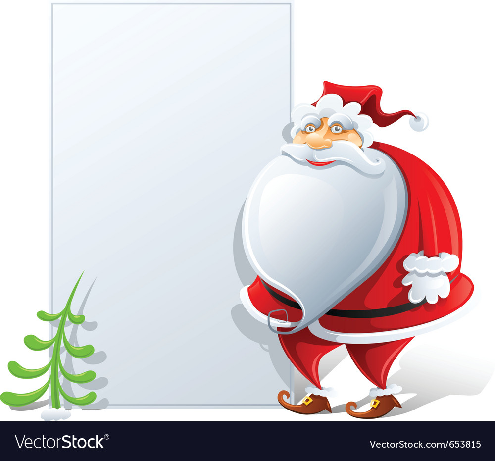 Happy santa claus with paper vector | Price: 3 Credit (USD $3)