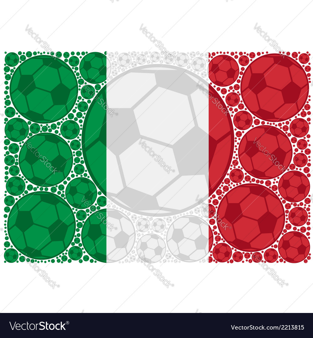 Italy soccer balls vector | Price: 1 Credit (USD $1)