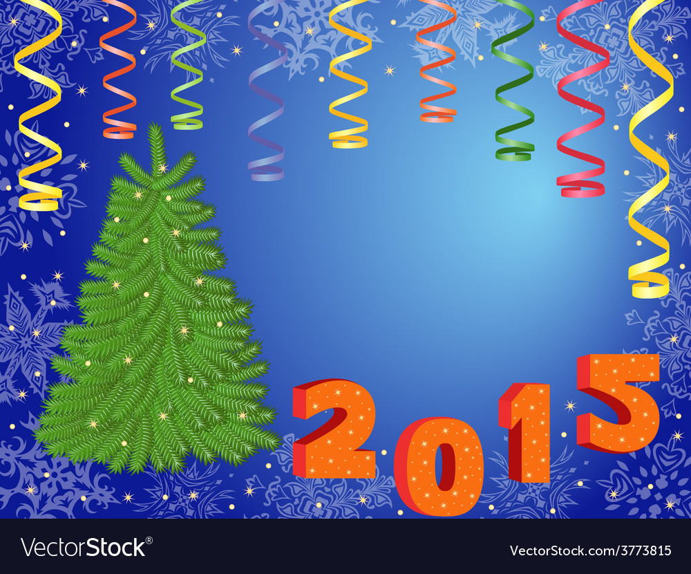 New year 2015 greeting card vector | Price: 1 Credit (USD $1)