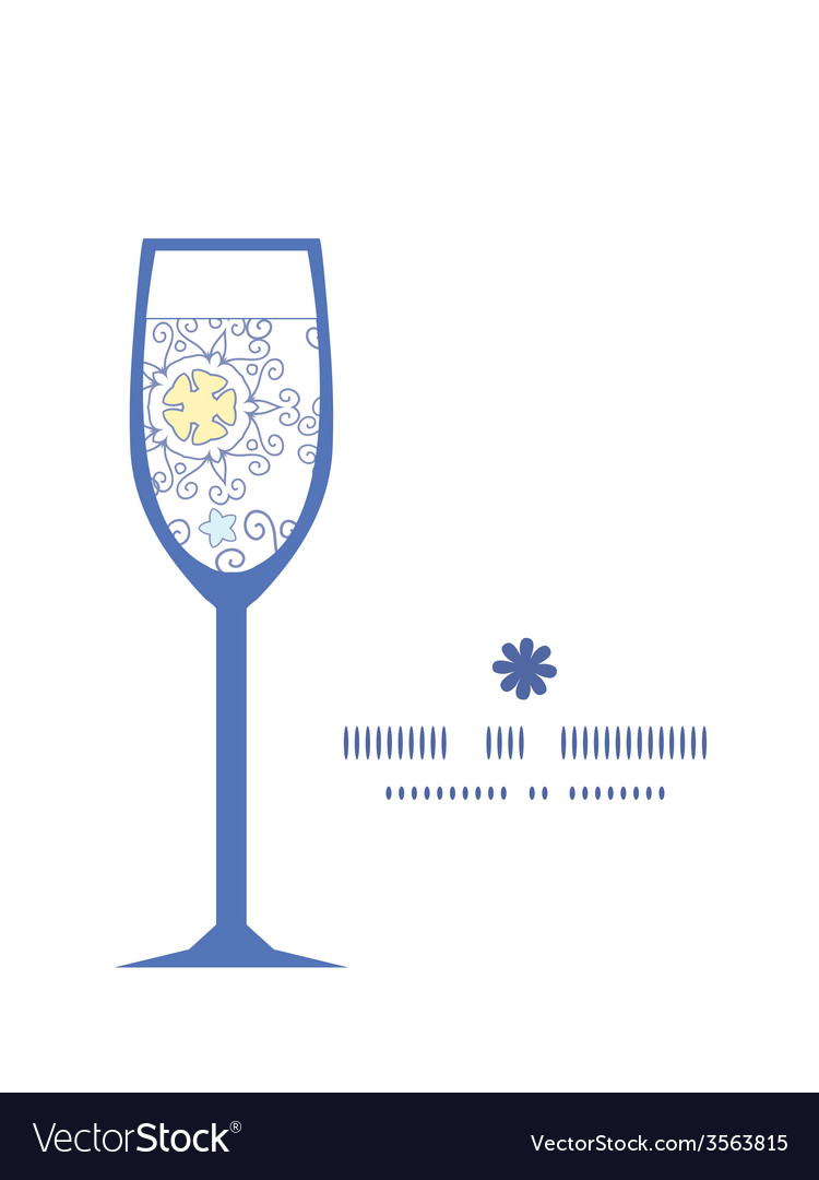 Ornamental abstract swirls wine glass silhouette vector   Price: 1 Credit (USD $1)