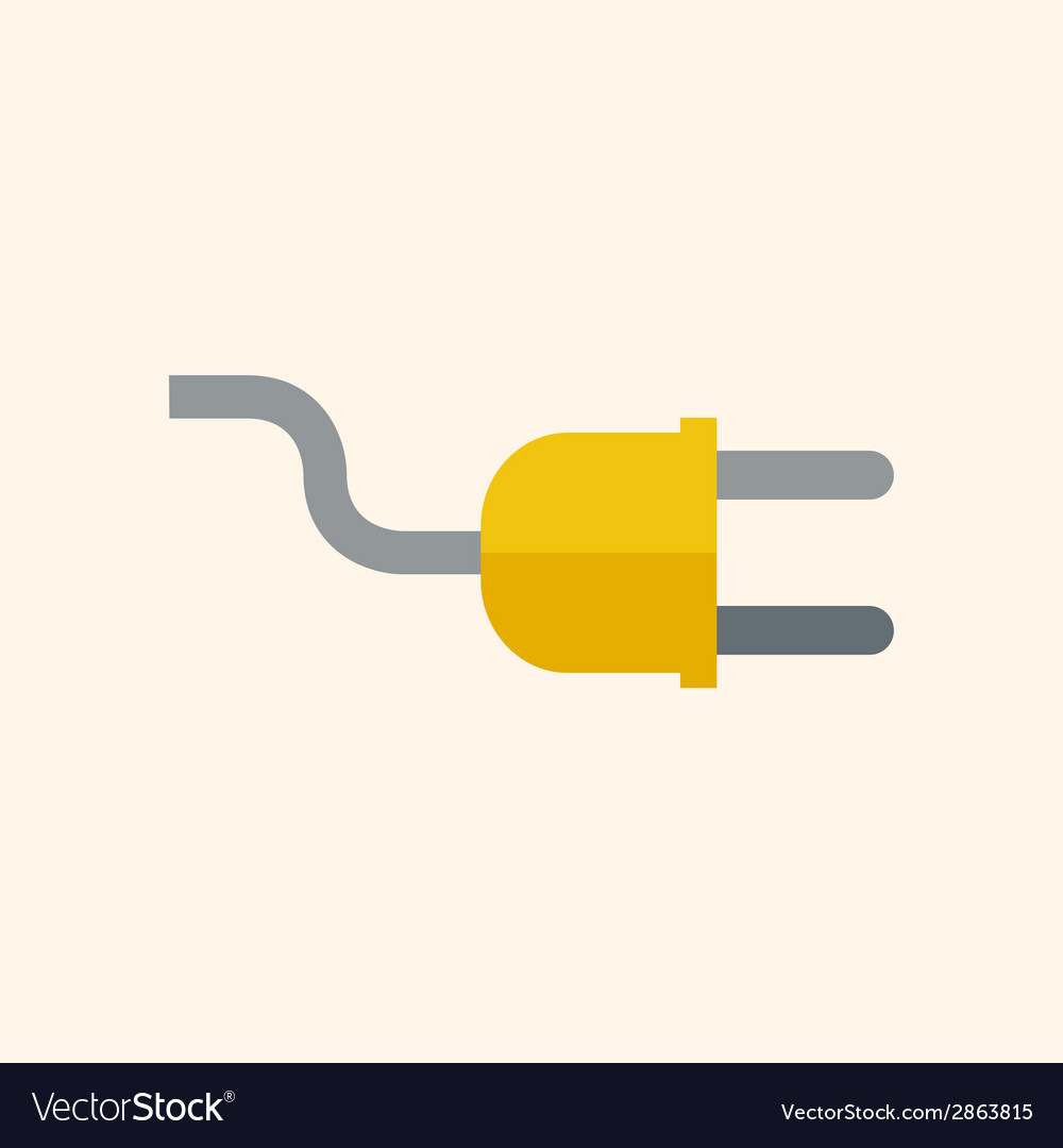 Plug flat icon vector | Price: 1 Credit (USD $1)