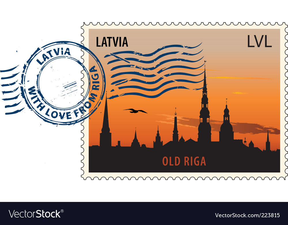 Postmark from latvia vector | Price: 1 Credit (USD $1)