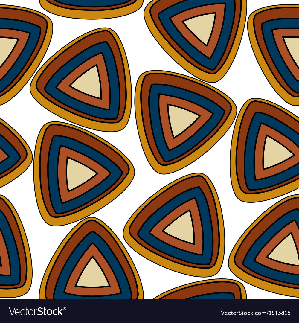 Seamless pattern with triangular elements vector | Price: 1 Credit (USD $1)