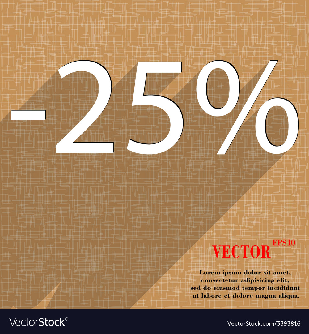 25 percent discount icon symbol flat modern web vector | Price: 1 Credit (USD $1)