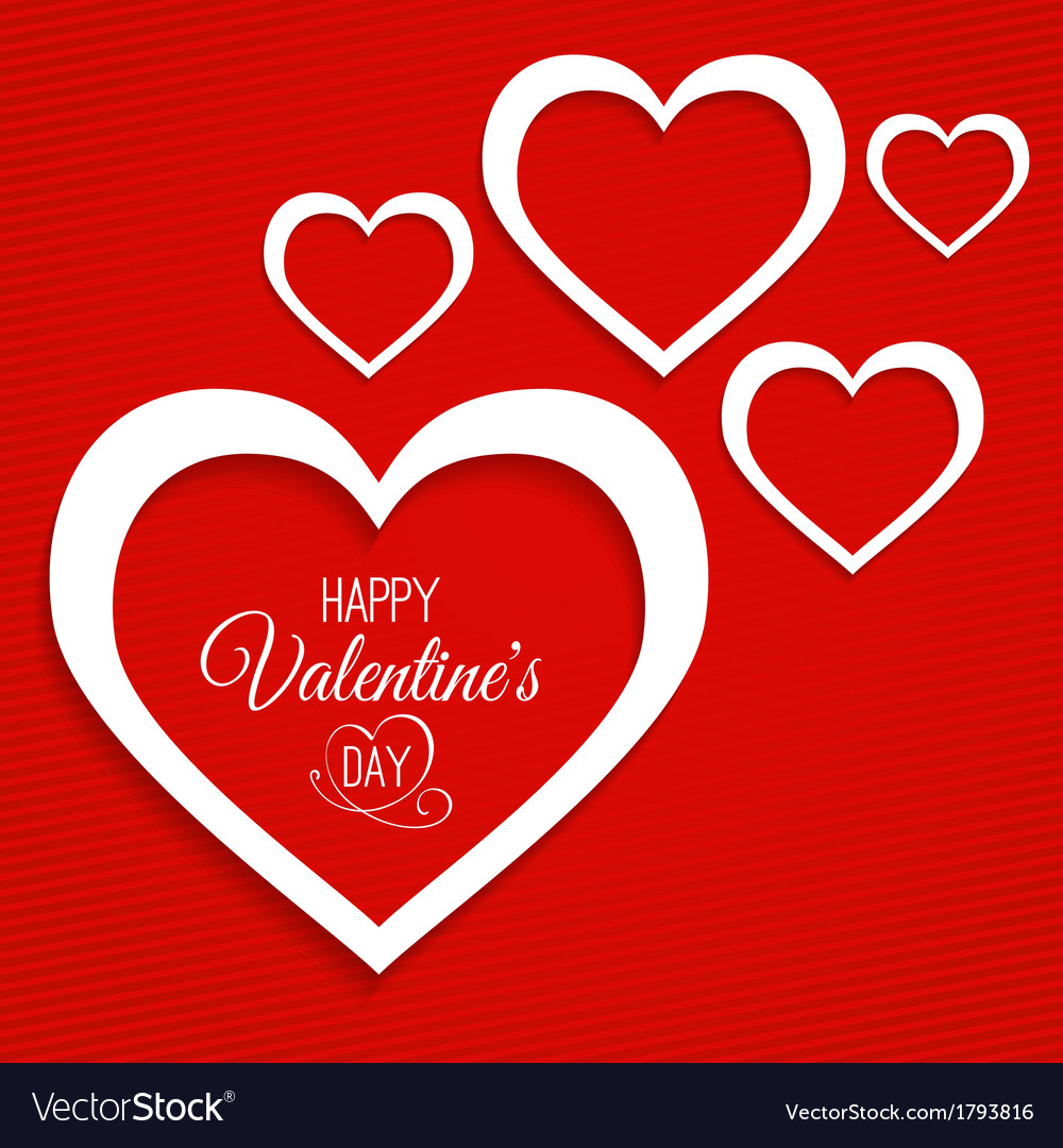 Abstract card for valentines day vector | Price: 1 Credit (USD $1)