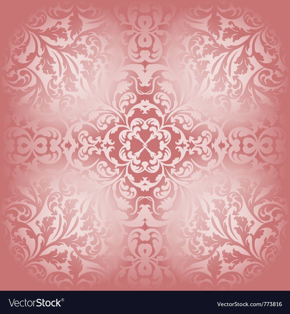 Bright red background with ornaments vector | Price: 1 Credit (USD $1)