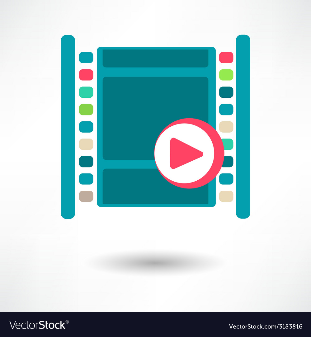 Film icon vector | Price: 1 Credit (USD $1)