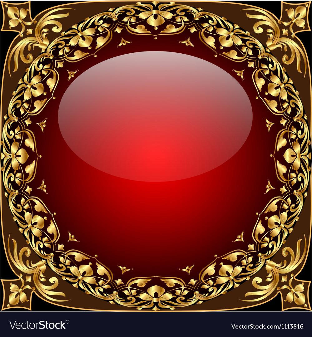 Gold ornamental frame background vector | Price: 1 Credit (USD $1)
