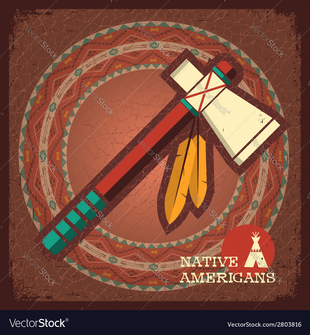 Indian american tomahawk vector | Price: 1 Credit (USD $1)
