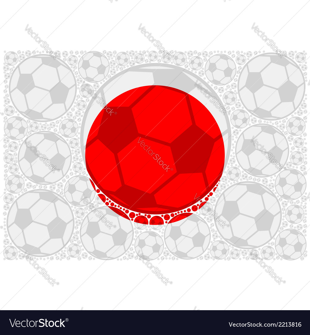 Japan soccer balls vector | Price: 1 Credit (USD $1)
