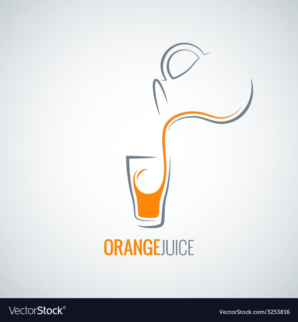 Orange juice glass bottle background vector   Price: 1 Credit (USD $1)