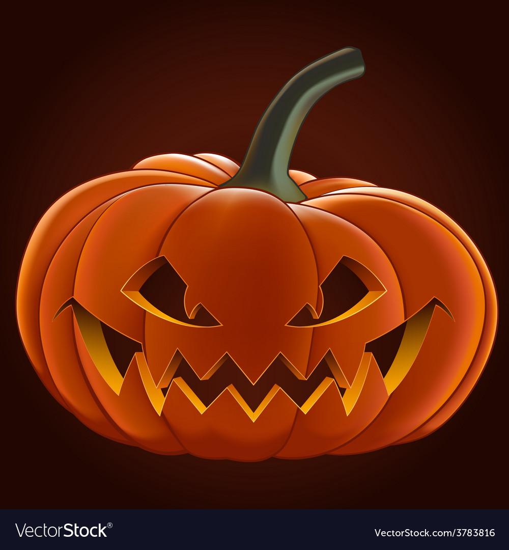 Pumpkin for halloween vector | Price: 3 Credit (USD $3)