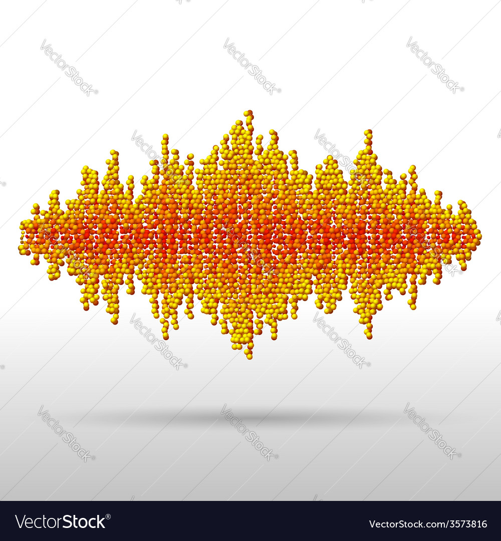 Sound waveform made of chaotic balls vector | Price: 1 Credit (USD $1)