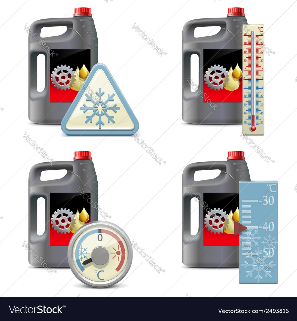Winter oil icons vector | Price: 1 Credit (USD $1)