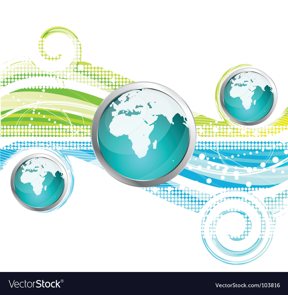 World icon and background vector | Price: 1 Credit (USD $1)