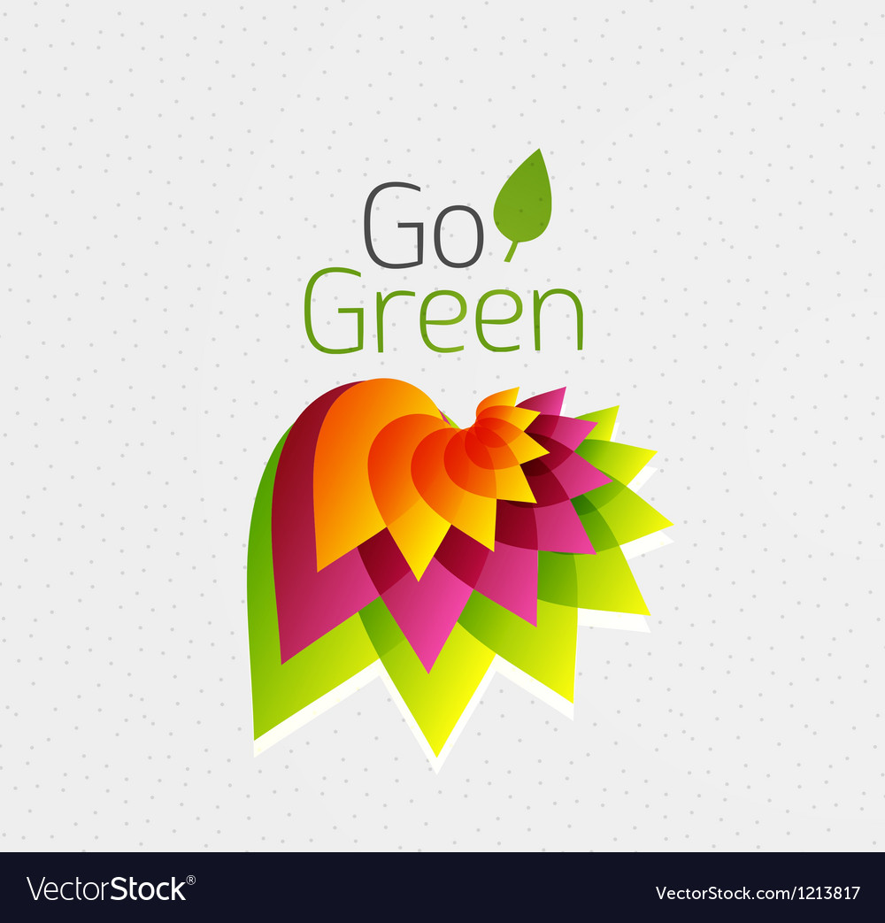 Abstract flower design go green concept vector | Price: 1 Credit (USD $1)