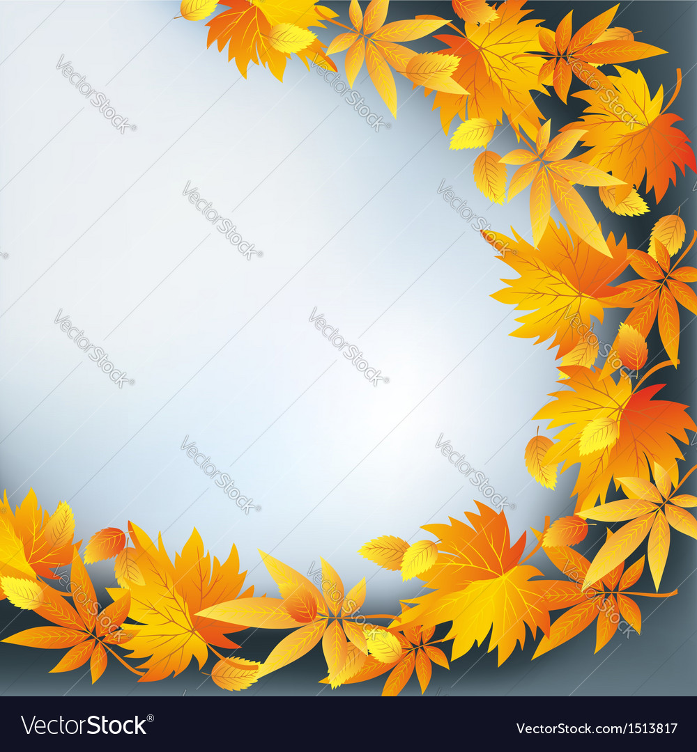Abstract nature background autumn leaf fall vector | Price: 1 Credit (USD $1)