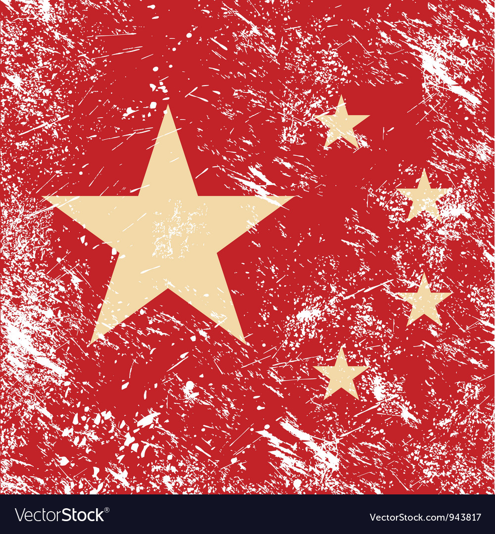 China retro flag vector | Price: 1 Credit (USD $1)