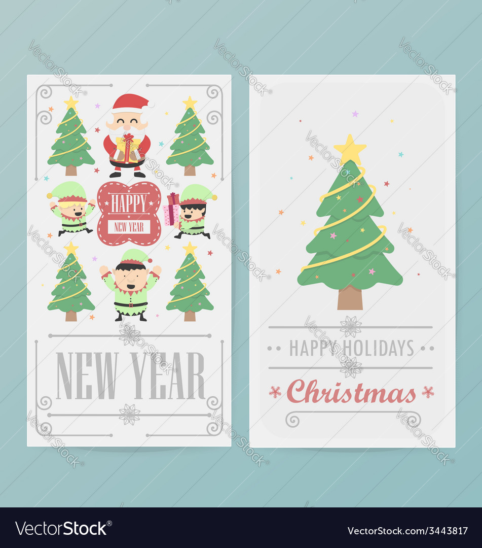 Christmas card design layout template vector | Price: 1 Credit (USD $1)