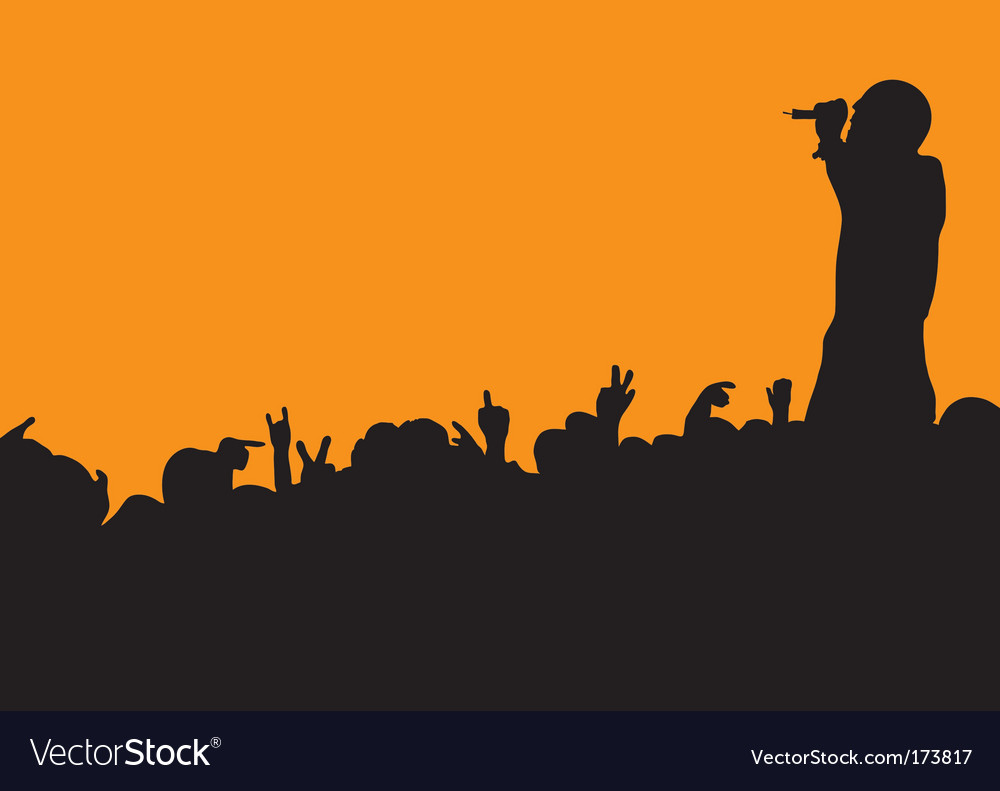 Concert crowd wave vector | Price: 1 Credit (USD $1)