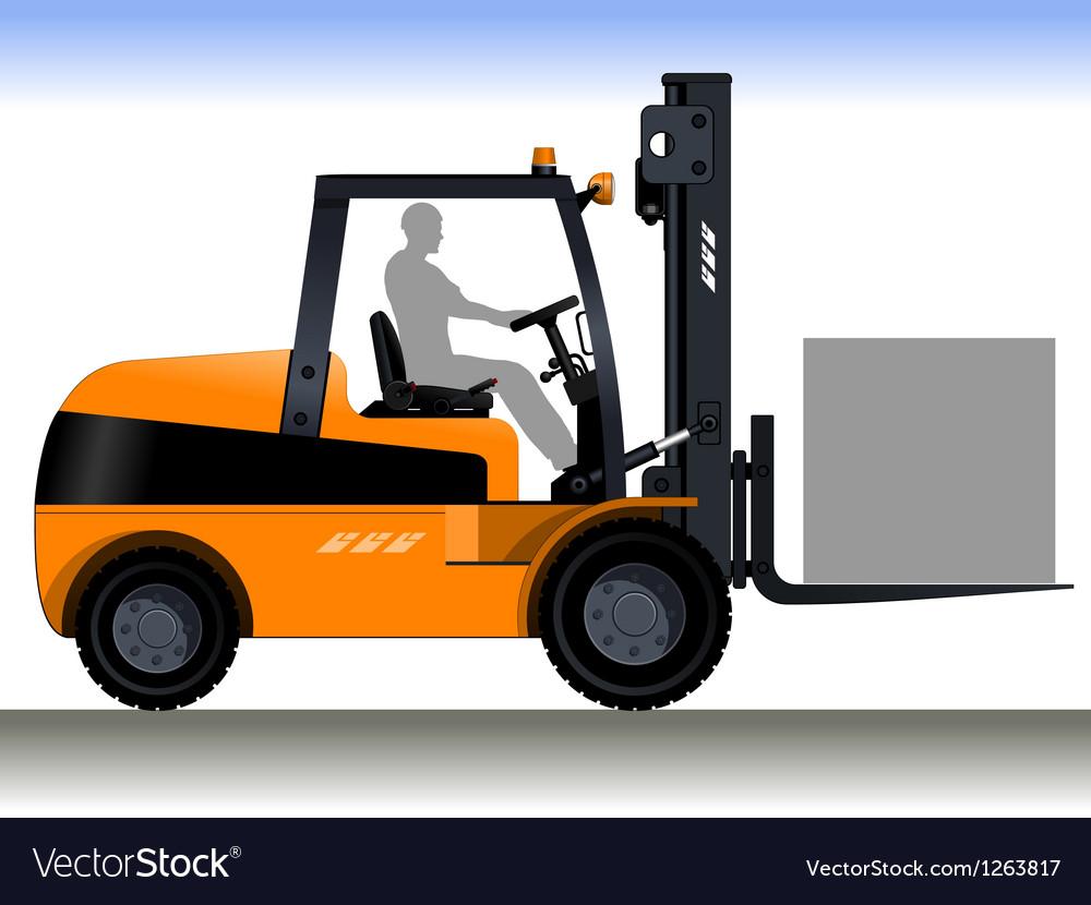 Forklift vector | Price: 1 Credit (USD $1)