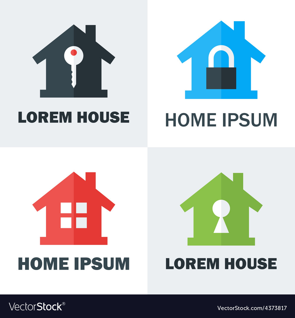 House logo design concepts vector | Price: 1 Credit (USD $1)