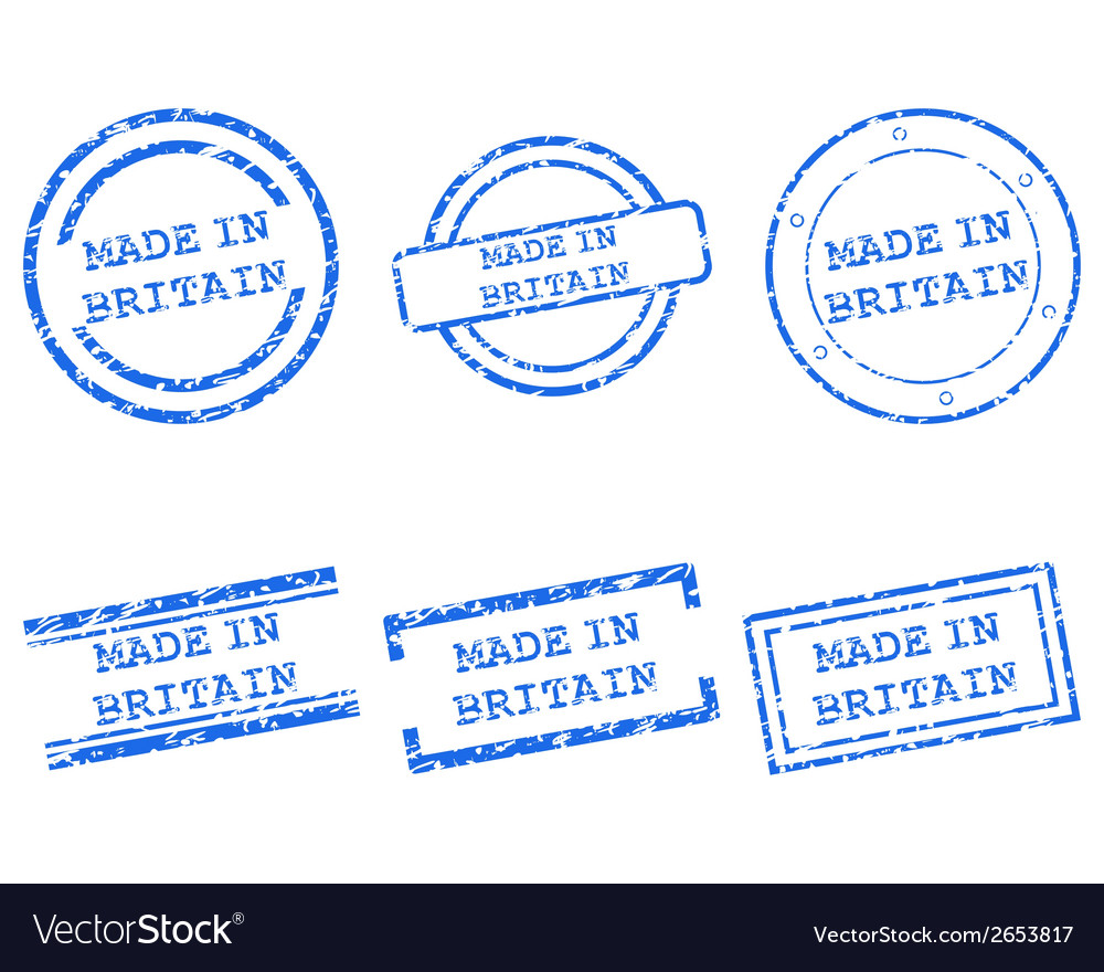 Made in britain stamps vector | Price: 1 Credit (USD $1)