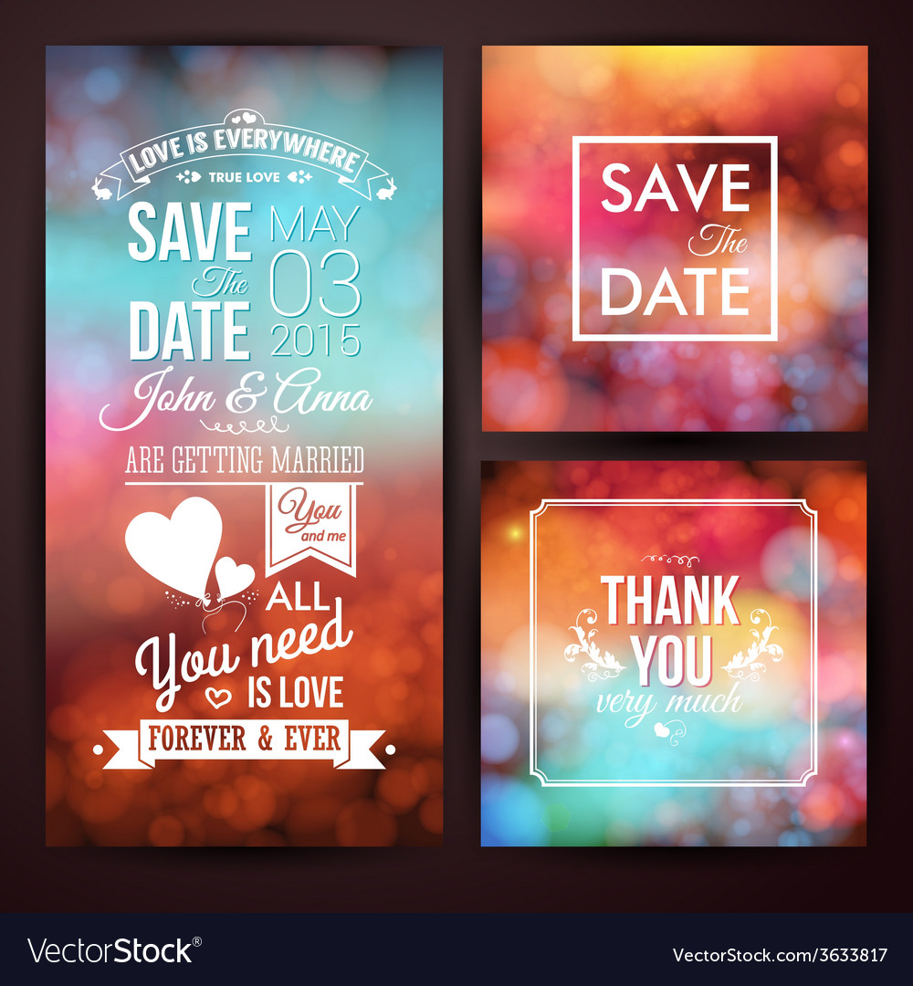 Save the date for personal holiday and thank you vector | Price: 1 Credit (USD $1)