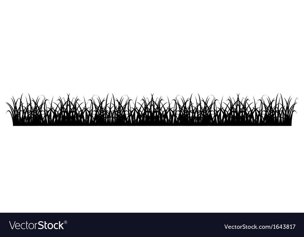 Simple grass silhouette vector | Price: 1 Credit (USD $1)