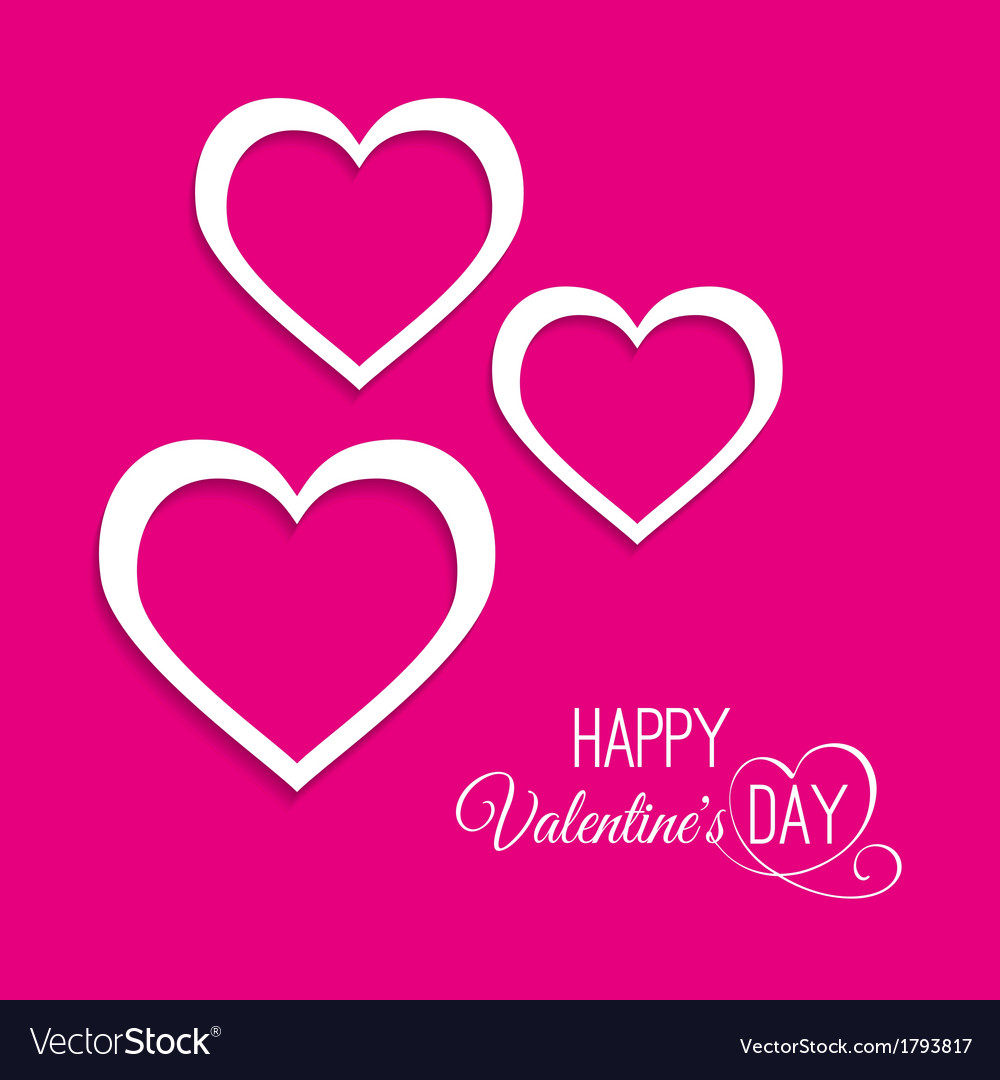 Three hearts on a pink background vector | Price: 1 Credit (USD $1)