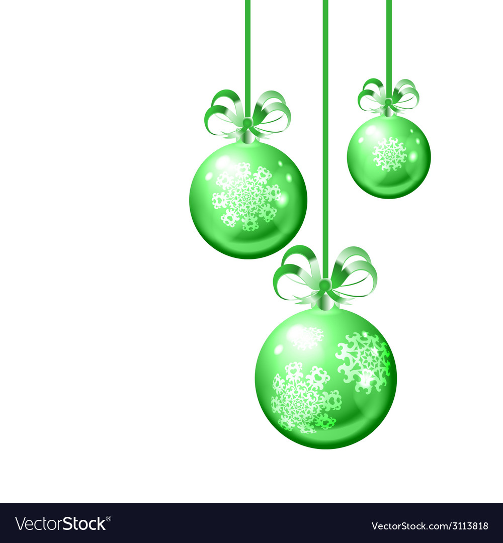 Christmas balls on white background vector | Price: 1 Credit (USD $1)