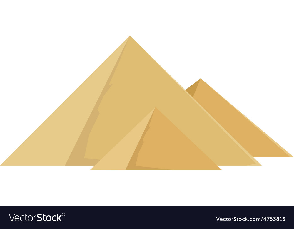 Egypt pyramids vector | Price: 1 Credit (USD $1)