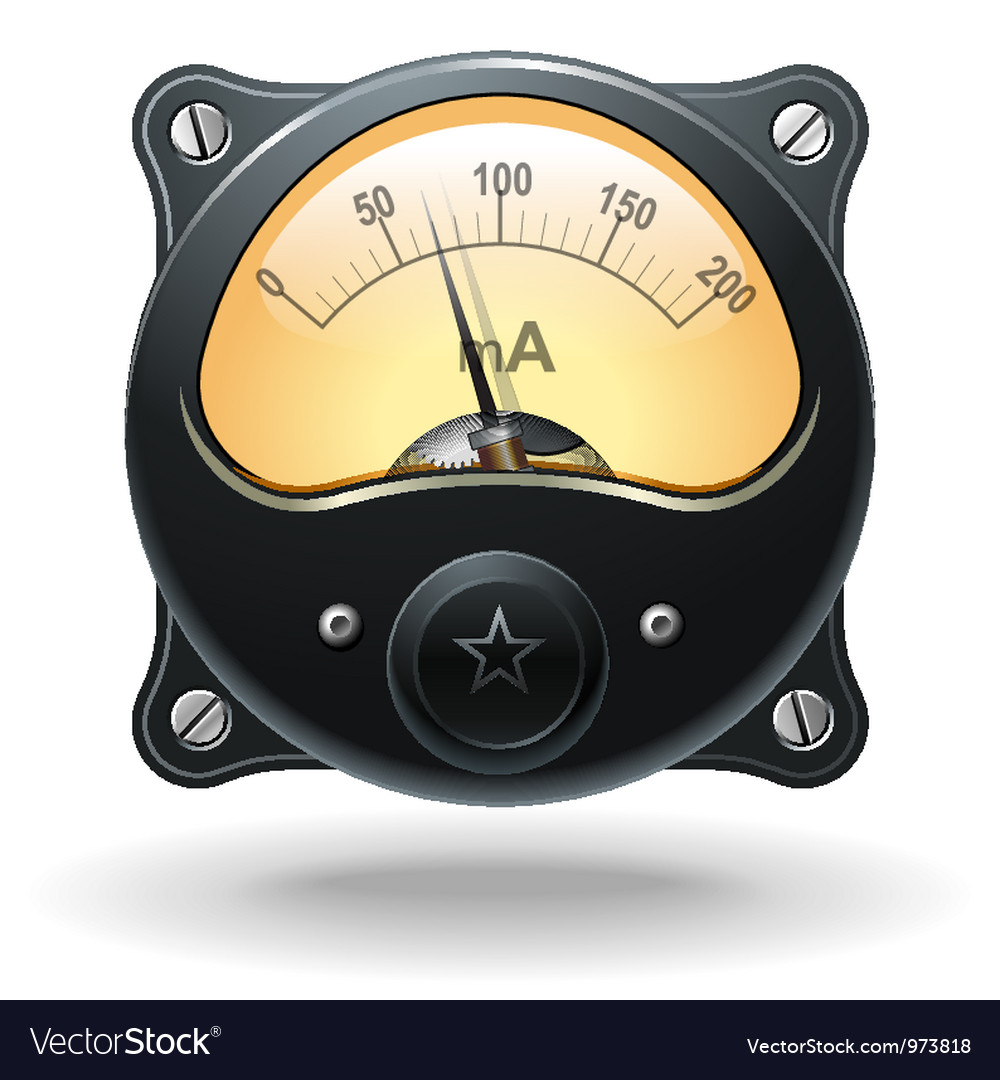 Electronic analog vu signal meter vector | Price: 3 Credit (USD $3)