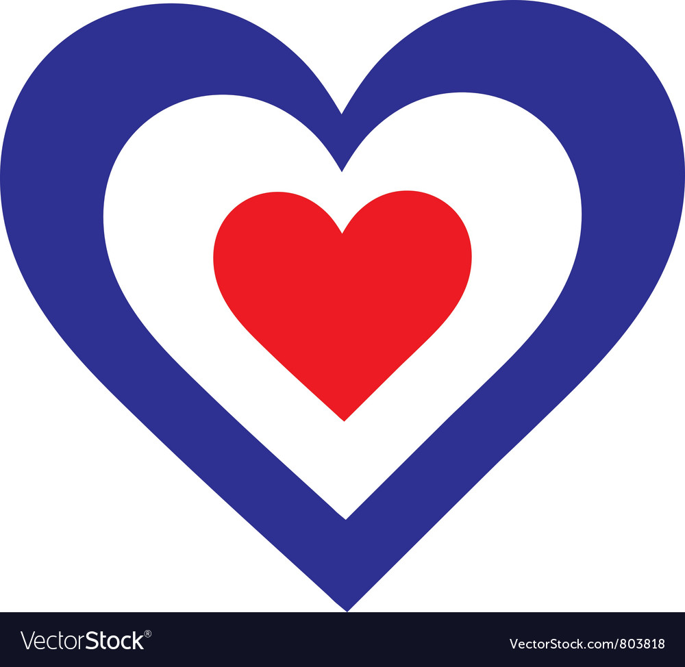 French heart vector | Price: 1 Credit (USD $1)