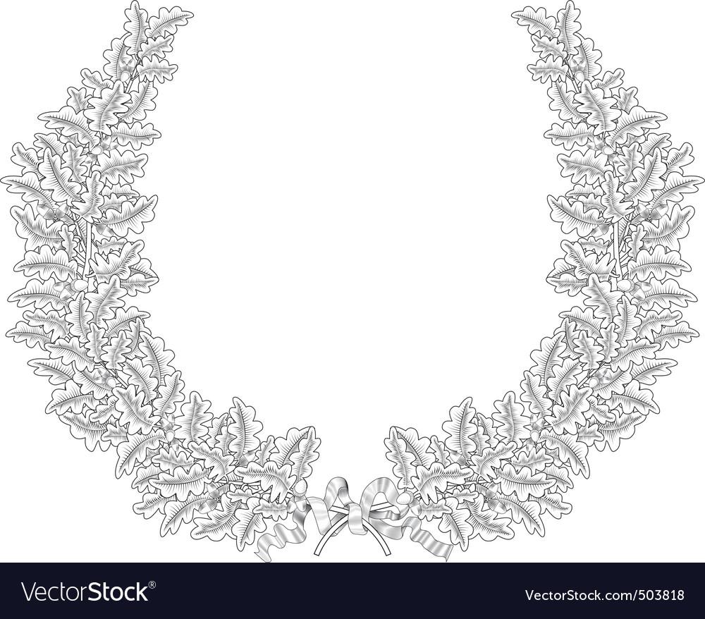 Oak wreath vector | Price: 1 Credit (USD $1)